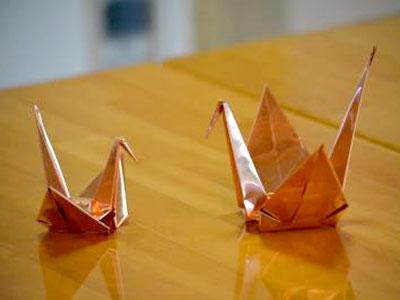 板金教室の作品の鶴です。