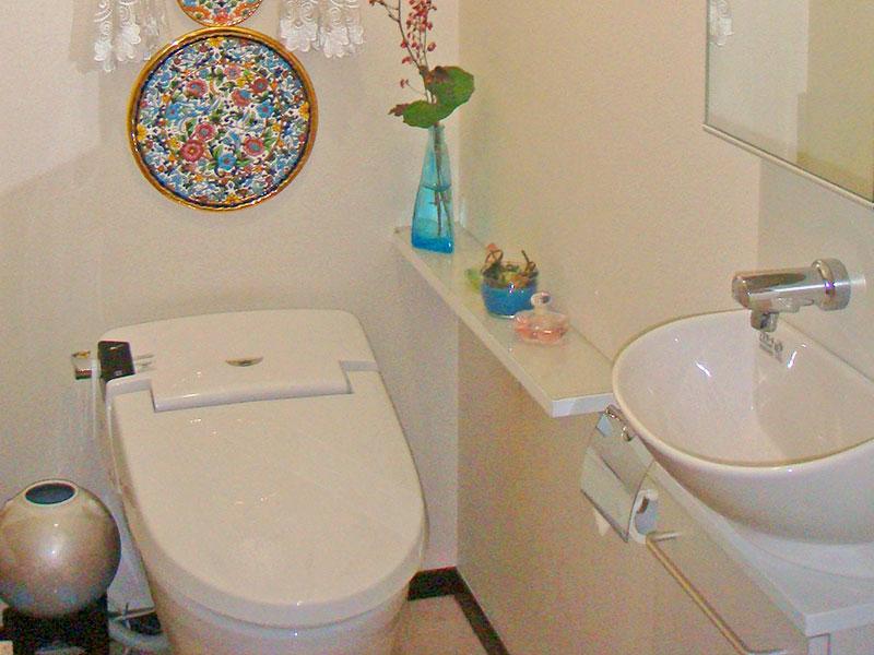 清潔感のあるトイレは、お客様の過ごしやすい空間に